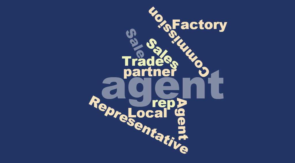 Word Cloud agent agency representation representative parner distributor