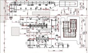 Layout of enameling plant for cookers