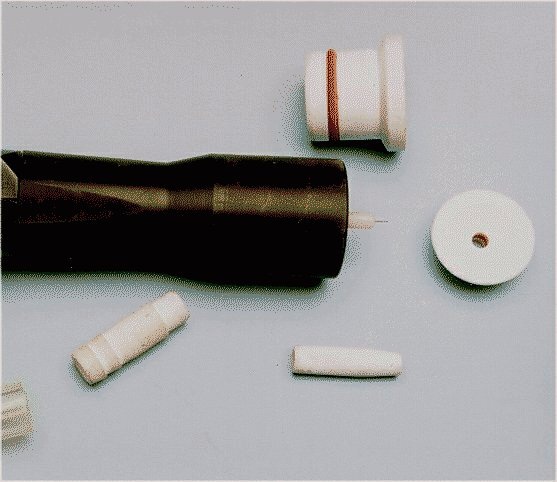 Components for powder spray equipment