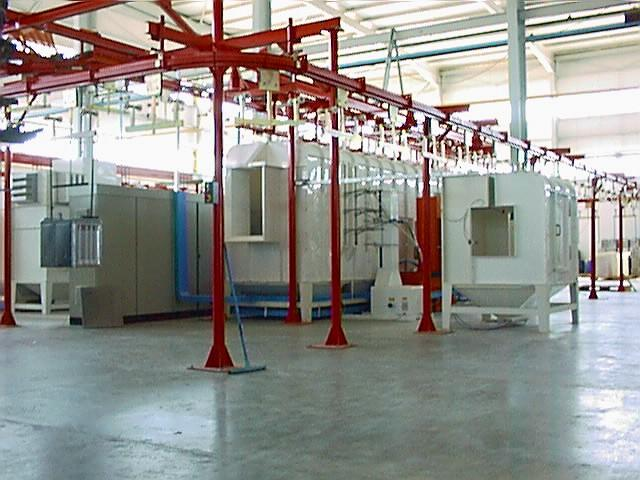 powder enameling systems at cooker enameling plant
