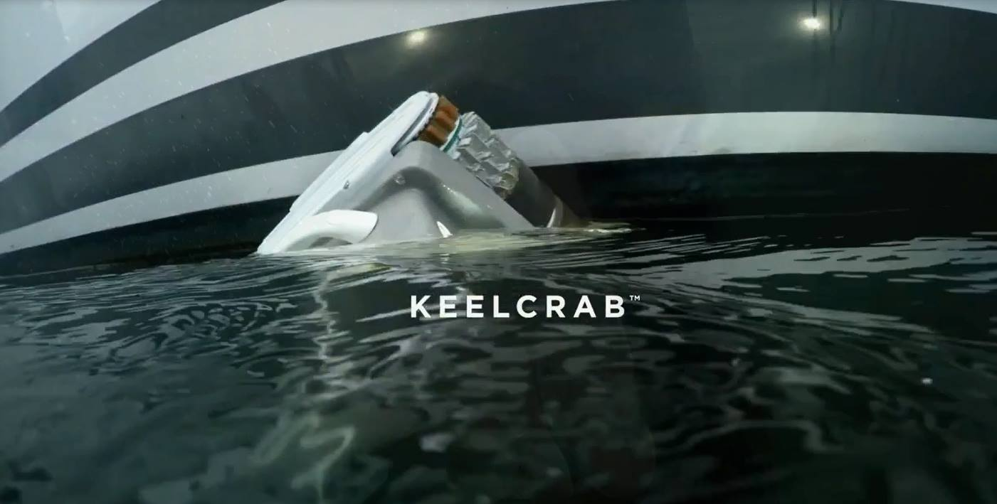 Keelcrab drone in operation